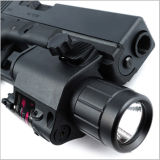 Tactical Rojo Vista láser y linterna LED para carril Picatinny