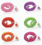 iPhone 6/iPhone 5를 위한 편평한 Noodel Shape Cable