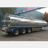40000 litros acoplado de aluminio del tanque de gasolina/del petróleo del espejo