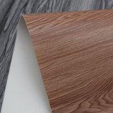 Couro malogrado da esponja do PVC da grão de madeira natural da textura para o saco