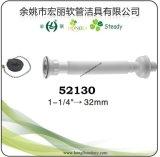 Tubo de extensão flexível de resíduos de aço inoxidável e PP para drenagem de lavatório, bacia e banho