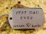 Fábrica directamente al por mayor El mejor llavero del regalo del papá del metal de encargo de la alta calidad de encargo de la alta calidad, el mejor regalo del padre