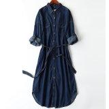 De Japanse Eenvoudige en Comfortabele Volledige Jeans van de Katoenen Order~ Riem Gebogen Kleding van de Onderrok van Ladys