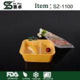 Wegwerfnahrungsmittelbehälter mit dekorativer Beschaffenheit und Innerhalb-Firmenzeichen unter Membrane