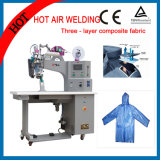Machine de cachetage de couture d'air chaud pour des vêtements de Non-Waven avec le pistolet pneumatique chaud