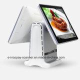"""Registratore di cassa capacitivo Android dello schermo di tocco di Icp-Ea11s doppio per il sistema/supermercato/ristorante/al minuto di posizione (15 """" +15 """")"""