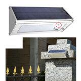 태양 빛 48 LED 800 루멘 알루미늄 합금 마이크로파 레이다 태양 운동 측정기 빛 통로 야드 정원을%s 방수 무선 안전 벽 램프