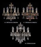 De moderne Atmosferische Transparante Kroonluchter van het Kristal van het Messing (1707-14-125 GVB)