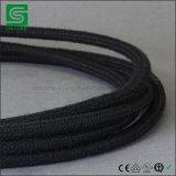 Cabo colorido do fio elétrico/matéria têxtil/cabo da tela para a luz do pendente