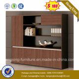 Mobiliário de escritório de cor preta a melamina Estante Armário para armazenamento de arquivos (HX-6M273)