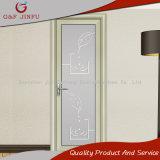 Portello di vetro della stoffa per tendine del doppio di alluminio rivestito di profilo di potere per la stanza da bagno