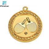 Goldsilberne Bronzefarben-kundenspezifische Firmenzeichen-Leerzeichen-Sport-Medaille mit Abzuglinie