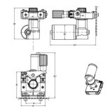 150 rpm 13m/min el cable del motor del alimentador para máquina de soldadura