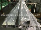 La taille carrée du tube 100*50 a poli la pipe en acier carrée soudée carrée de pipe en acier de Stainelss