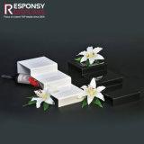 Étalage acrylique multifonctionnel de contre- présentoir Ladder-Shaped moderne clair/blanc/noir