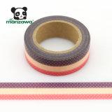 Cinta adhesiva de Washi Cmyk de Manzawa de la impresión del OEM de los puntos del diseño de encargo del cordón