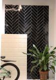 De de zwarte 3X12inch/7.5X30cm Verglaasde Glanzende Ceramische Badkamers van de Tegel van de Metro van de Muur/Decoratie van de Keuken