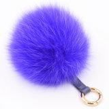 Pelliccia falsa POM Poms di Keychain di falsificazione della sfera sfocata di Fox grande