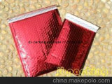 Roter Packpapier-Luftblasen-Beutel