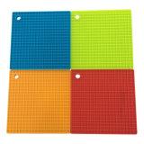 Кухня силикон Heat-Resistant коврики в горшочках держатель квадратных силиконовый коврик
