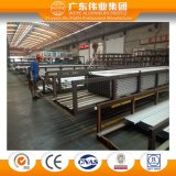 Los perfiles de aluminio de la protuberancia del aerosol de polvo para la pared de cortina Ce/TUV OEM de 6063 series dieron la bienvenida