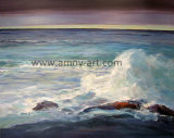 ホーム装飾のための卸し売りハンドメイドの海景の油絵