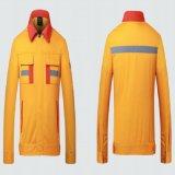 O trabalhador da construção longo do algodão do Workwear da luva sere o uniforme de trabalho do côordenador