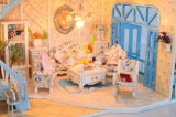 DIY Wooden Doll House Happy new Year poison in Hot of halls
