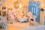Casa de muñecas de madera bricolaje Feliz año nuevo regalo en Venta caliente