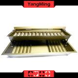 15 ряда металлических Poker лоток для стружки с двухслойным Poker Chip с крышку замка (YM-CT15)