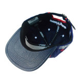 3D刺繍の方法青いPU/Cotton習慣は急な回復の帽子の人の帽子を遊ばす