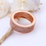 Neues Chefmens-Gold überzogener Finger-Ring des Entwurfs-2017 kupfernes