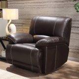 Sofa en cuir sectionnel de fonction de Recliner moderne de L-Forme pour la salle de séjour