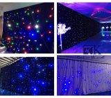 LEDの星のカーテンLEDのカーテンの結婚式の背景幕の結婚式の装飾材料
