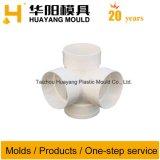 Molde de quatro vias plástico do encaixe de tubulação (HY086)