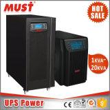 Onde sinusoïdale pure haute fréquence 1kVA UPS online