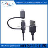 Apple MFI 2 en 1 câble de la foudre + micro câble de données de synchronisation USB pour iPhone Samsung