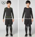2017 кальсон и верхняя часть оптового изготовленный на заказ Spandex Sportswear детей идущих для мальчика