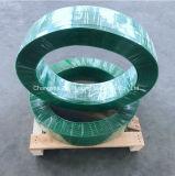 Courroie sans heurt de polyester de roulis enorme de couleur verte