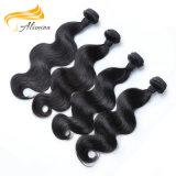 Cabelo ondulado do Virgin do Indian do cabelo barato 100% da extensão da onda do corpo