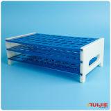 Пластичный шкаф пробирки с различными отверстиями