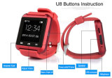 Экран касания wristwatch спорта вахты U8 Bluetooth Smartwatch Andriod франтовской
