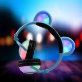 특허 디자인 빛을내는 LED 가벼운 입체 음향 귀여운 헤드폰