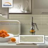 Abgeschrägter Randbrown-bunte Küche-und Badezimmer-Wand-Mosaik-Fliese