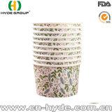 Paquete familiar laminado PLA Helado Gelato vaso de papel teniendo-out