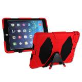 En silicone résistant aux chocs en plastique et en cas d'armure de protection double pour l'iPad 2 de l'air