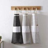 Baumwolle konzipierte Plaid-Küche-Schutzblech mit Tasche