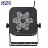 Kleines 12PCS LED RGBW DMX 4 in 1 dünnem LED-NENNWERT Licht