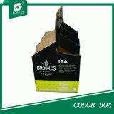 Caixa do punho do papel ondulado de 6 frascos