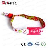 Wristband del tessuto tessuto RFID di Ntag 213 del panno della tessile di festival di musica